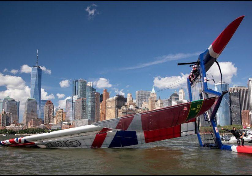 racing_bankappsegling_2019_SailGP_New_York_SailGP_Capsize_New_York