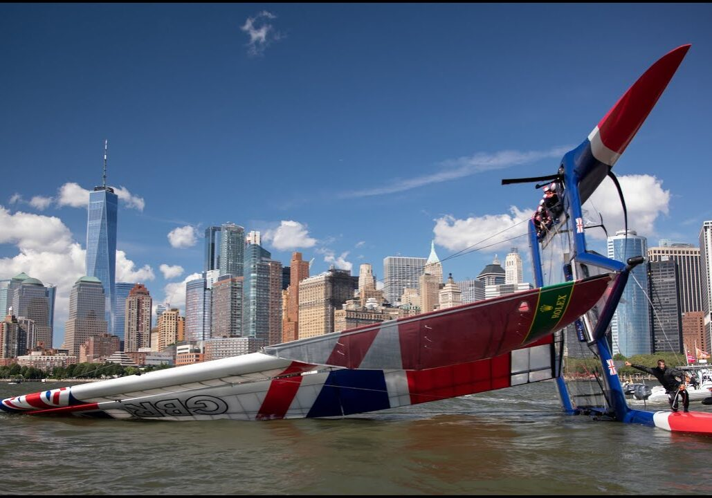 racing_bankappsegling_2019_SailGP_New_York_SailGP_Capsize_New_York
