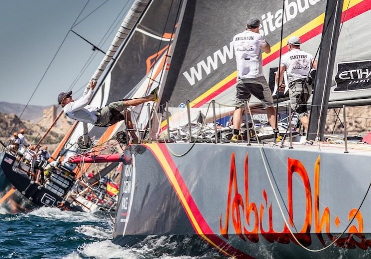 racing_havskappsegling_2014_VOR_Etapp_3_Starten_Live_VOR_Abu_Dhabi_start