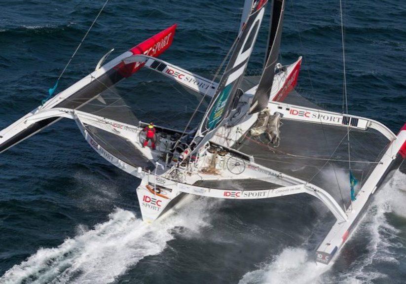racing_havskappsegling_2018_Route_du_Rhum_-_giganterna_Finish_IDEC_2